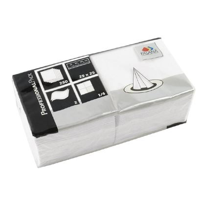 Picture of Fasana Cocktail Napkins White 250mm
