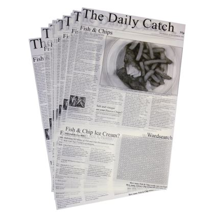 Picture of Greaseproof Paper Squares - Newspaper Print (500)