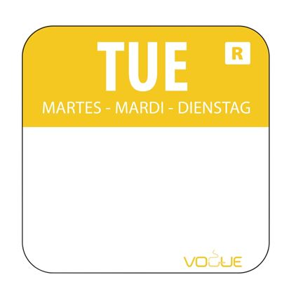Picture of Colour coded food labels - Tuesday (yellow) 1000
