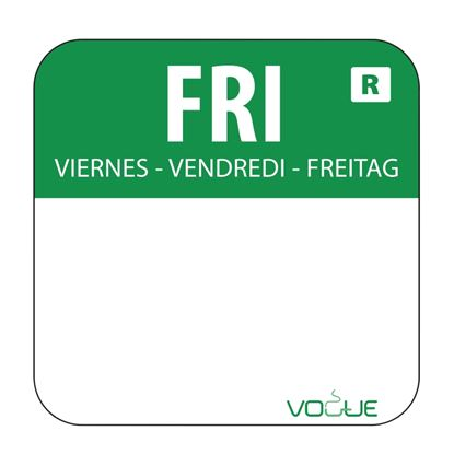 Picture of Colour coded food labels - Friday (Green) 1000