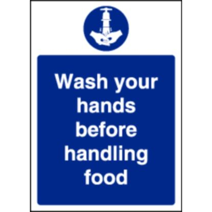 Picture of Wash Hands Before Handling Food Sign