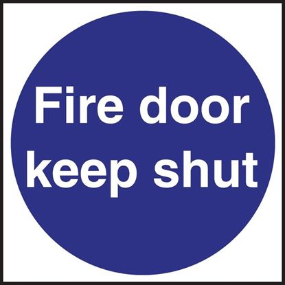 Picture of Fire Door Sign, Self adhesive 100 x 100mm