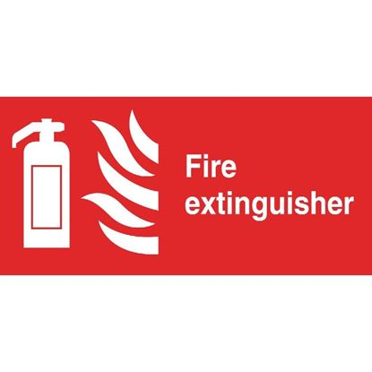 Picture of Fire Extinguisher Symbol Sign 100 x 200mm