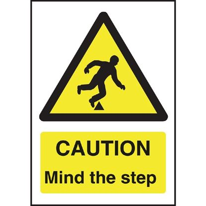 Picture of Caution Mind The Step Sign 200 x 150mm