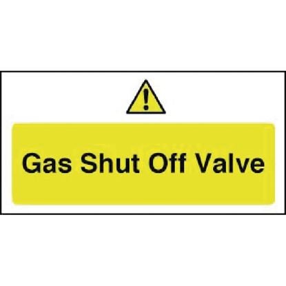 Picture of Gas Shut Off Sign Valve Sign