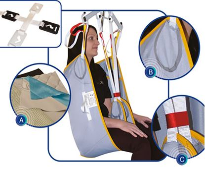 Picture of Aquila Lifting Sling with Padded Legs Medium - Clip Fixings