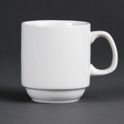 Picture of Olympia Whiteware Stackable Mug 10oz (12)
