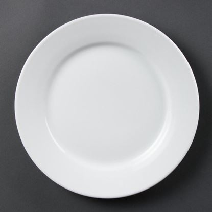 Picture of Olypia Wide Rimmed Plates 250mm - 10'' (12)