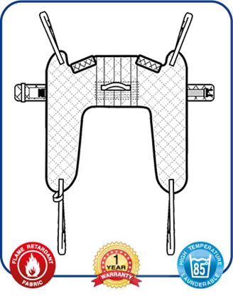 Picture of Aquila Toileting Sling with Loops - Extra Small