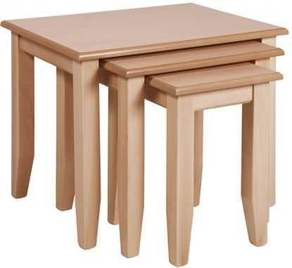 Picture of Nest of 3 Tables Tough Top  - Light Oak