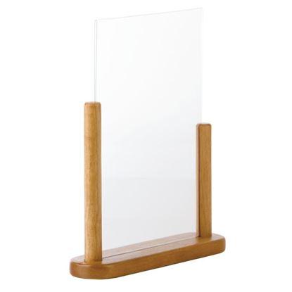 Picture of Tabletop Teak Menu Holder A4