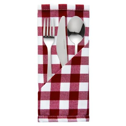 Picture of Palmar Gingham Red & White Napkin Pk10