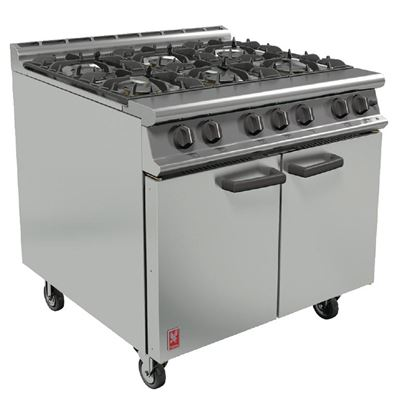 Picture of Dominator Plus Range 6 Burner Natural Gas with Castors