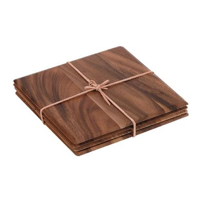 Picture of Square Table Mat Acacia (pk4)