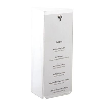 Picture of 3 Sided Menu Holder - 1/3 A4