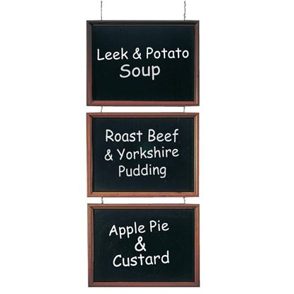 Picture of Securit Trio of Hanging Chalkboards