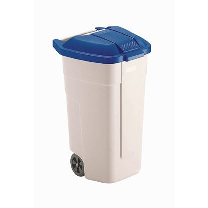 Picture of Rubbermaid Mobile Container 100Ltr Blue Lid