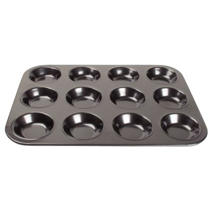 Picture of Vogue Carbon Steel Non-Stick Mini Muffin Tray 12 Cup