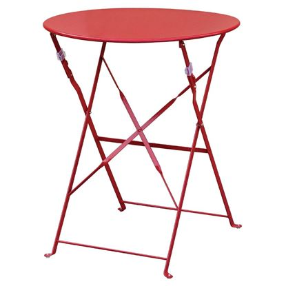 Picture of Bolero Red Pavement Style Stl Table 595mm Circular