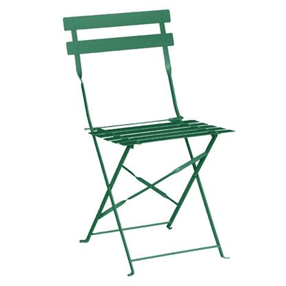 Picture of Bolero Pavement Style Steel Chairs Garden Green (Pk2)