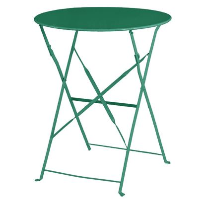 Picture of Bolero Garden Green Pavement Style Steel Table 595mm circul