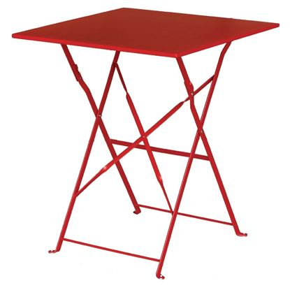 Picture of Bolero Red Pavement Style Stl Table Square 600mm
