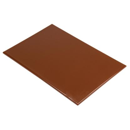 Picture of HD Chopping board 600x450x12mm  - Brown Vegetable