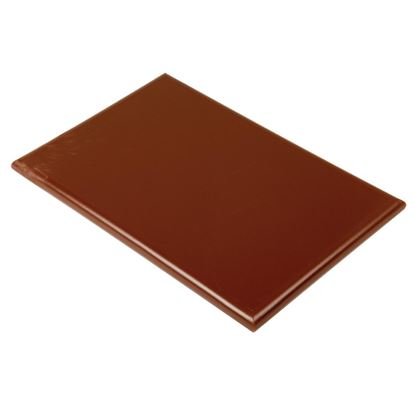 Picture of HD Chopping board 460x305x25mm  - Brown Vegetable