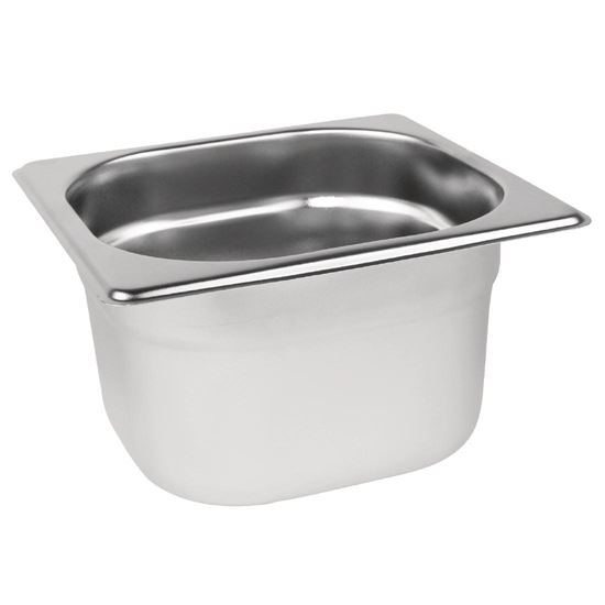 Vogue Stainless Steel 1 6 Gastronorm Pan 100mm Andway Healthcare