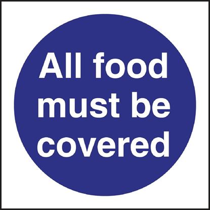 Picture of All Food Must Be Covered Sign