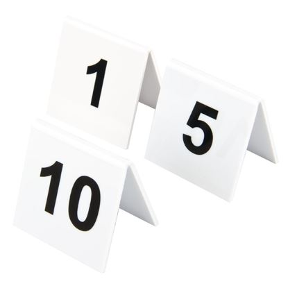 Picture of Plastic Table Numbers 1-10