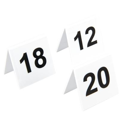 Picture of Plastic Table Numbers 11-20