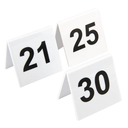 Picture of Plastic Table Numbers 21-30
