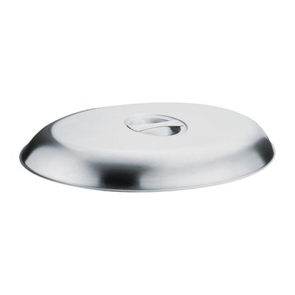 """Picture of Oval 8"""" Vegetable Dish Lid"""
