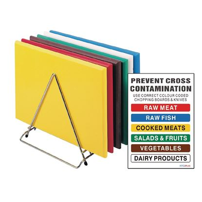 Picture of Hygiplas set of 6 chopping boards (colour coded)