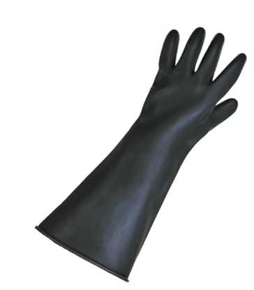 Picture of Black Gauntlets - Large