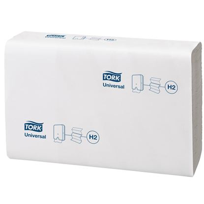 Picture of Tork Z Fold White Hand Towels 1Ply 250 Sheets (Pack of 12)