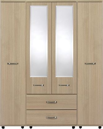 Picture of VIRGO 4 Door robe with centre mirror panel & 2 x Drawers