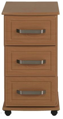 Picture of AURIGA 3 Drawer Bedside with Lockable Top Drawer