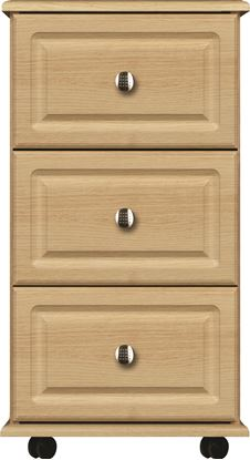Picture of ANTLIA 3 Drawer Bedside with Lock & Rounded Top