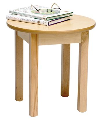 """Picture of Coffee table 25"""" D White Beech Finish"""