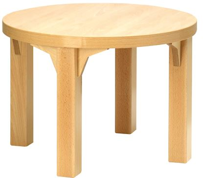 "Picture of Coffee table 16"" Diameter tough top - Natural polish"