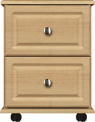 Picture of ANTLIA 2 Drawer Bedside with lockable drawer