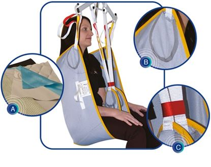 Picture of Fastfit net Padded bathing sling - Small