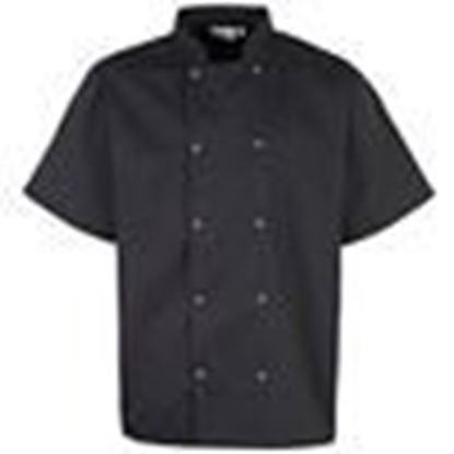 Picture of Chefs Jacket-245gm Polycotton - Black