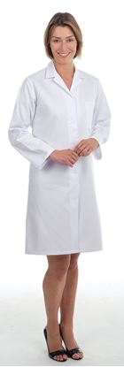 Picture of Step-in-style Coat Polycotton - White