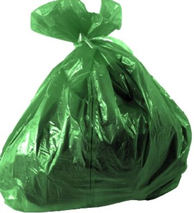 Picture of Soluable Strip Laundry Sack Green (200)