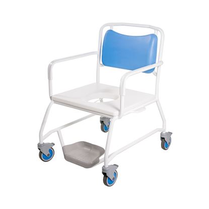 "Picture of RomaChair Bariatric 25"" seat with fixed arms & Footplates"