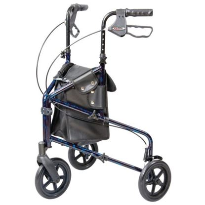 Picture of Tri-wheel walker with bag & pressure brakes