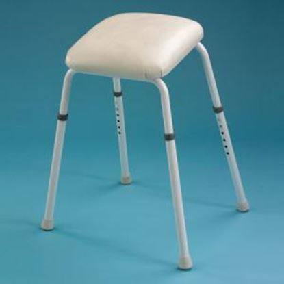 """Picture of Adj. Ht perch stool with arms (23"""" - 29"""")"""